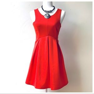 DayTrip• Pleated Coral Sleeveless Dress Small